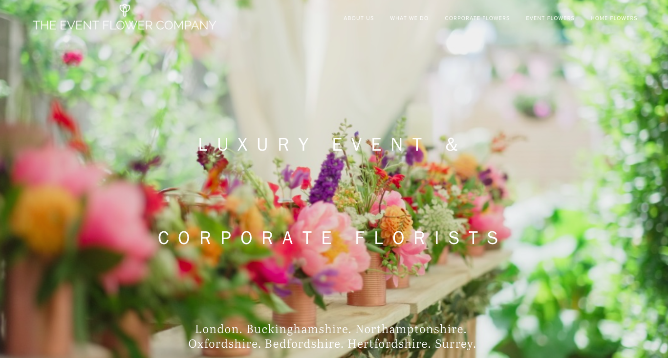 The Event Flower Company homepage