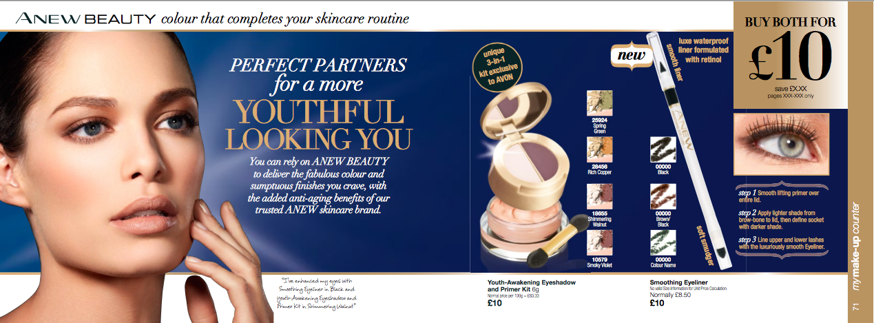 AVON ANEW Beauty, written by Becky Pink