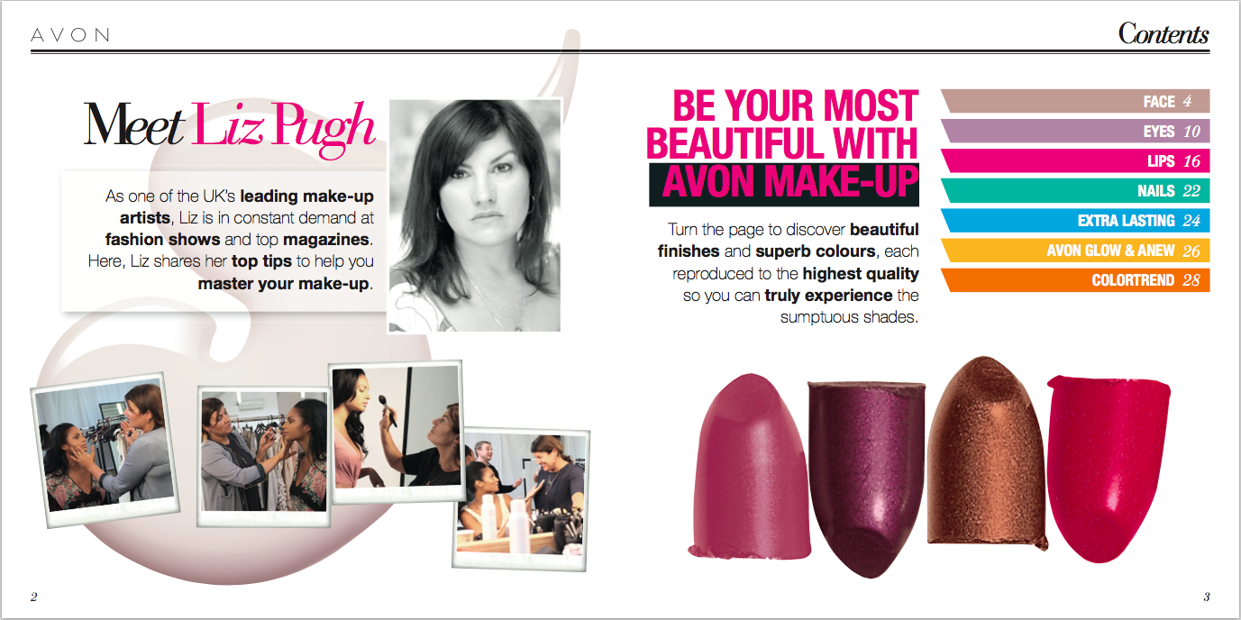 AVON Make-up Guide, written by Becky Pink